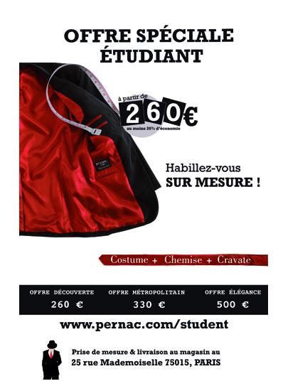 Se faire tailler un costard à tarif étudiant!!