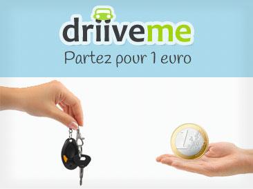 DriiveMe - Votre voiture de location pour 1€