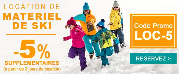 Jusqu'à -50% sur la location du matériel de ski !